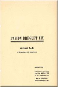 Breguet 19 A2 B2  Aircraft Technical Brochure  Manual ( French Language )