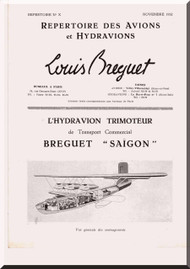 Breguet Saigon  Aircraft Technical Brochure  Manual ( French Language )