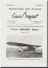 Breguet 27 A  Aircraft Technical Brochure  Manual ( French Language )