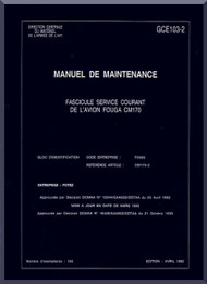 Potez Fouga CM.170 Magister Aircraft Maintenance  Manual ( French Language )