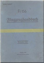Fieseler Fi-156 Aircraft Guida Manual - Flugzeughandbuch - L.Dv. 2601, 1940   (German Language ) -