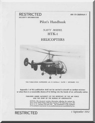 KAMAN HTK-1 Helicopter Flight Manual  TAN 01-260HAA-1 , 1952