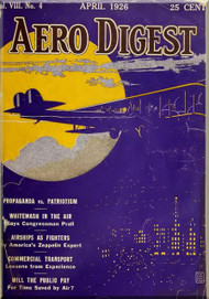 Aero Digest  Aircraft Aviation Magazines April 1926