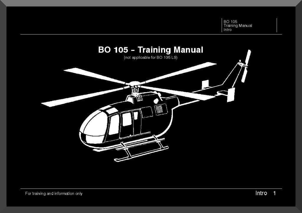 mbb messerschmitt bolkow blohm bo 105 trainng manual aircraft reports aircraft manuals Bolkow 105 Helicopter BK 117