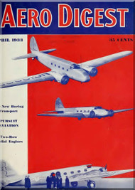 Aero Digest  Aircraft Aviation Magazines April 1933