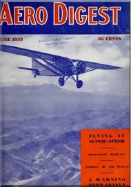 Aero Digest  Aircraft Aviation Magazines June 1932