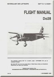 Dornier DO 28  Aircraft  Flight Manual  , ( English Language ) GAF 1L-Do28-1 1985