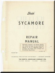 Bristoll Sycamore  Helicopter Structural Repair Manual  , 1958