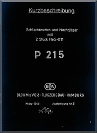 Blohm & Voss BV-P 215 Aircraft Technical Manual -   (German Language )