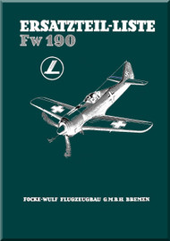 Focke-Wulf  FW 190 A,F,G  Aircraft  Illustrated Parts Catalog  Manual ,    (German Language ) -  1729 pages -  Ersatzteilliste, 1943