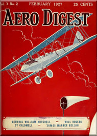 Aero Digest  Aircraft Aviation Magazines February 1927