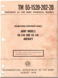 Sikorsky ARMY CH-34 A, C  Helicopter Organization Maintenance Manual   , TM 55-1520-202-20