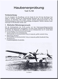 Focke-Wulf  Ta-154  Aircraft  Technical  Manual ,   (German Language ) -  Haubenerprobung