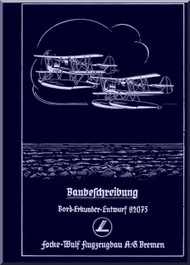 Focke-Wulf  FW 62  Aircraft  Operating  Manual ,    (German Language ) -  Baubeschreibung