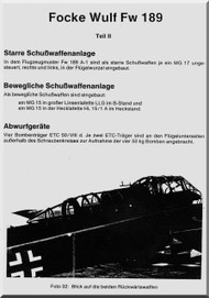 Focke-Wulf  FW 189 A-0   Aircraft  handbook Manual ,    (German Language ) - Schubwaffenanlage