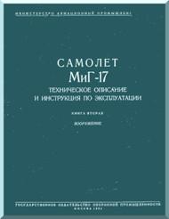 Mikoyan Gurevich MiG-17 Aircraft Technical Manual  ( Russian  Language )