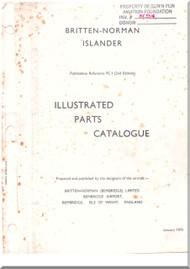 Britten-Norman Islander  Aircraft Illustrated Parts Catalog   Manual - 1973