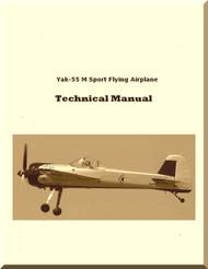 Yakovlev Yak-55 M Aircraft  Technical Description Manual ,    (English  Language )