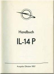 Ilyushin Il-14 P  Aircraft Technical Manual - ( German  Language ) - 1957