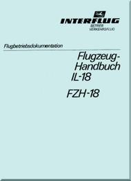 Ilyushin Il-18   Aircraft Flight Manual - ( German  Language ) - 1977