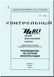 Ilyushin Il-103 Aircraft  Flight Technical Manual  - Book 1  -   ( Russian  Language )