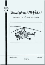 PZL SM-1 / 600  Helicopter Rotocraft Technical Brochure  Manual ( Spanish Language )