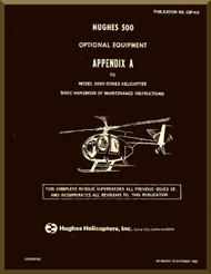 Hughes 369  / 500   Optional Equipment Maintenance  Manual   PN CSP-H-3 , 1982