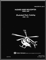 Hughes 369 D / 500 D  Illustrated Parts Catalog  Manual   PN CSP-04 , 1977