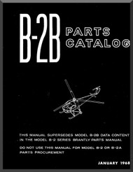 Brantly B-2B   Helicopter Parts Catalog  Manual  ( English Language ) , 1968