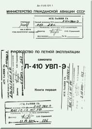 Let L-410 UVP-E,  Aircraft  Flight  Manual -  Book 1 -  ( Russian  Language ) -