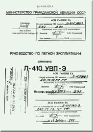 Let L-410 UVP-E,  Aircraft  Flight  Manual -  Book 2 -  ( Russian  Language ) -