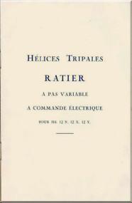 Ratier Propeller Tripales a pas variable a commande electrique   manual  ( French Language )