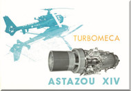 Turbomeca Astazou XIV Aircraft Engine  Technical Brochure Manual ( English and French  Language )