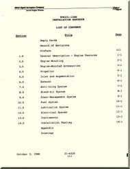 Allied-Signal / Garrett TPE331-15AW  Turboprop Engine  Installation Handbook   Manual -  October 3, 1988  ( English Language )