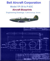 Bell Aircraft Corporation Model P-39 to P-63  Aircraft Blueprints Engineering Drawings  on DVDs