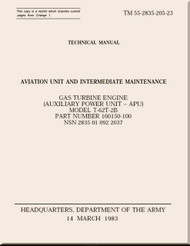 T-62T-2B Technical Manual Aviation Unit and Intermediate Maintenance;   1983; TM 55-2835-205-23