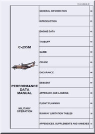 CASA / EADS C-295 M  Aircraft Performance Data Manual - Military Operation  - ( English Language )