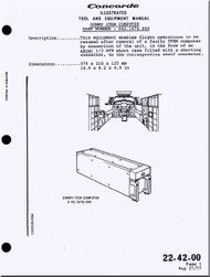 Aerospatiale / BAe / BAC  Concorde  Aircraft Illustrated Tool and Equipment  Manual -  ( English Language )