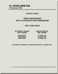 Anti-Icing Valve    Depot Maintenance  with  Illustrated Parts Breakdown  Manual NAVAIR A1-452AA-MDB-300