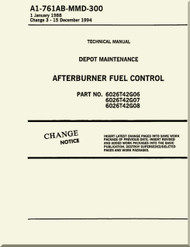 Afterburner  Fuel Control  Depot Maintenance    Manual NAVAIR A1-761AB-MDB-300