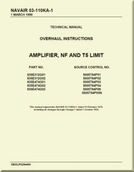 Amplifier, NF and T5 Limit Overhaul Instructions Manual NAVAIR 03-110KA-1