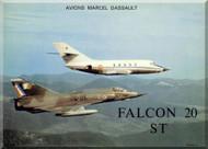 "Dassault  Falcon "" Mystere "" 20 ST Aircraft Aircraft Technical Brochure  Manual"