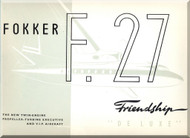 Fokker  F-27  Friendship  Delux  Technical Brochure   Manual 1960