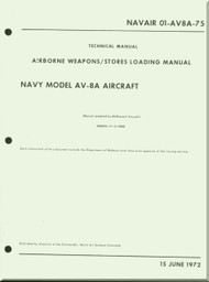 Mc Donnell Douglas AV-8A Aircraft Airborne Weapons & Stores Loading Manual - 01-AV8A-75