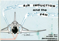 *        Mc Donnell Douglas F-4H  Aircraft Air Induction Technical  Brochure Manual -  1960