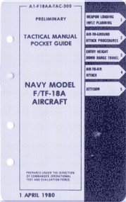 Mc Donnell Douglas F / TF -18 A   Aircraft  Tactical  Manual - Pocket Guide  A1-F18AA-TAC-300
