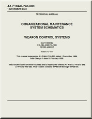 Mc Donnell Douglas F / A -18A  and F / A -18 B  Aircraft  Organizational Maintenance - System Schematics  - Weapon Control  Systems - A1-F18AC-740-500