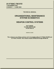 Mc Donnell Douglas F / A -18A  and F / A -18 B  Aircraft  Organizational Maintenance - System Schematics  - Weapon Control  Systems - A1-F18AC-740-510