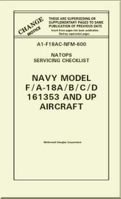 Mc Donnell Douglas F / A -18 A / B / C / D  Aircraft  Service Checklist Manual A1-F18AC-NFM-600