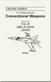 Mc Donnell Douglas F / A 18  Aircraft  - Conventional Weapons - Checklist   GBU -31/32/35 ( JDAM )   - A1-F18AE-LWS-670